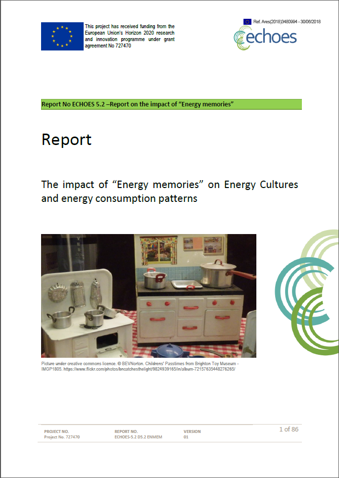 Deliverable 5.2 Impact of Energy Memories on Energy Cultures